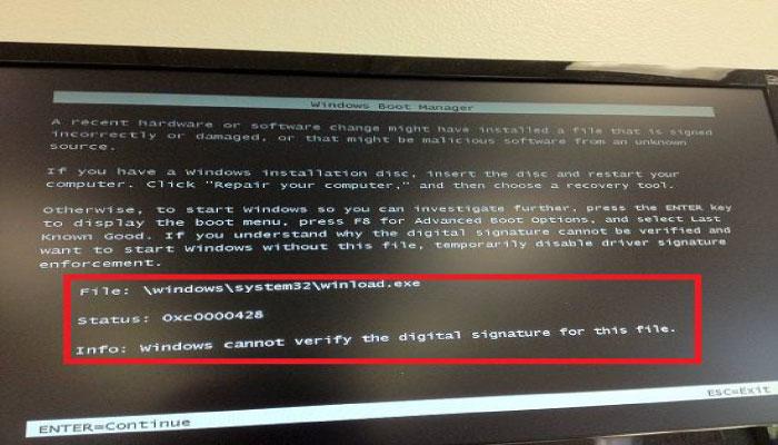 lỗi máy tính không vào được windows