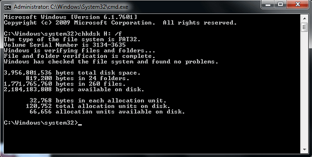 sửa lỗi windows bằng chkdisk