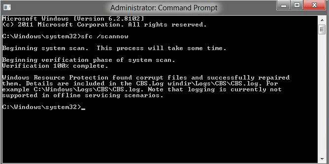 kiểm tra file hệ thống khi sửa lỗi windows