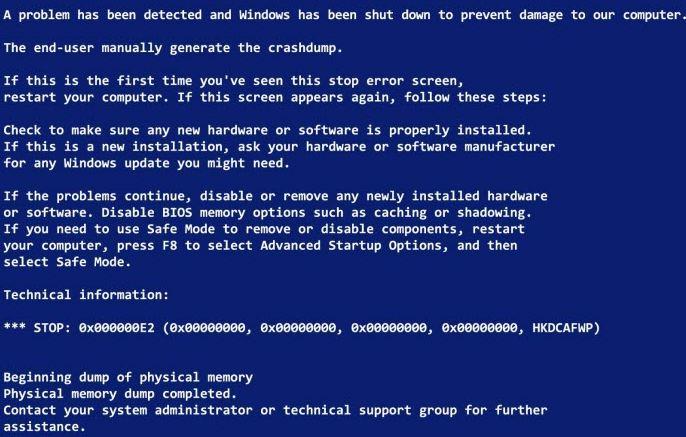 lỗi máy tính màn hình xanh và cách khắc phục nhanh nhất