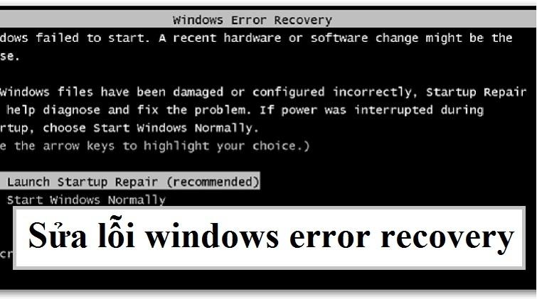 sửa lỗi máy tính error recovery