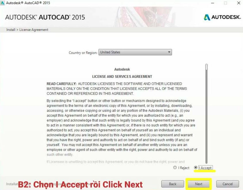 hướng dẫn cài autocad 2015 full crack chi tiết nhất