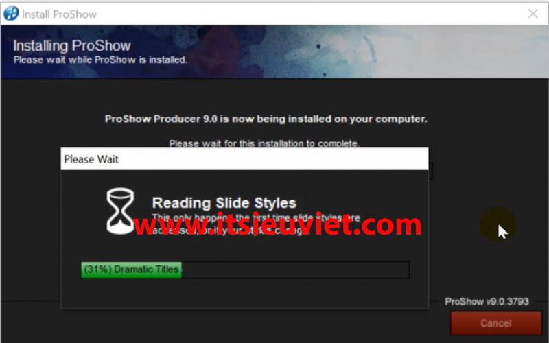 Quá trình cài đặt proshow producer diễn ra trong vài phút