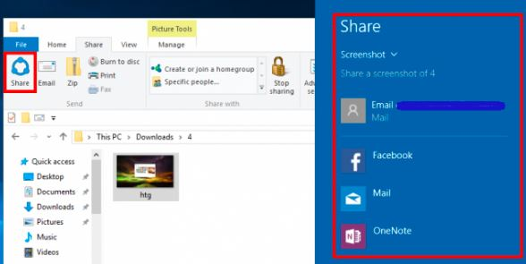 chụp màn hình bằng tổ hợp phím Windows + H