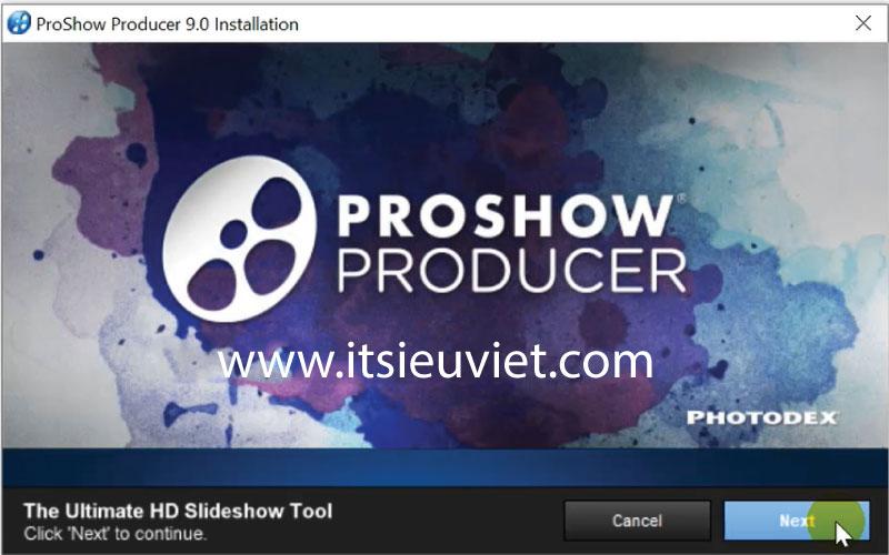 hướng dẫn cài đặt proshow producer chi tiết nhất