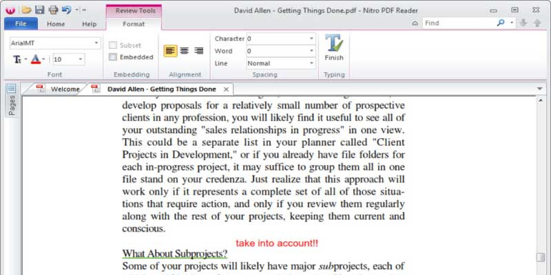 Phần mềm Nitro Reader đọc file pdf, chỉnh sửa nhanh chóng