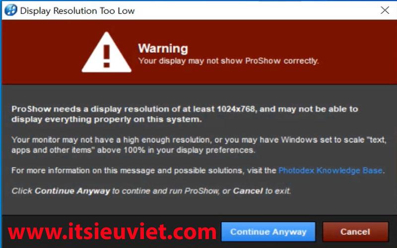 khắc phục lỗi độ phân giải proshow producer 9.0