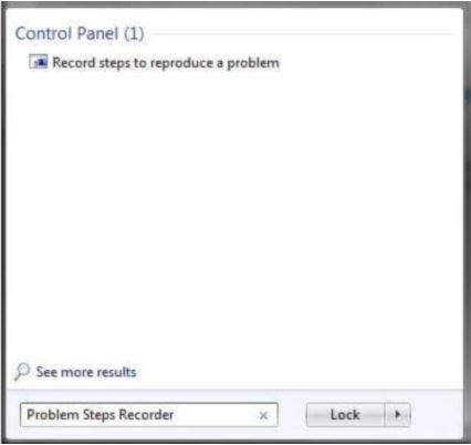 Mở Steps Recorder để quay màn hình