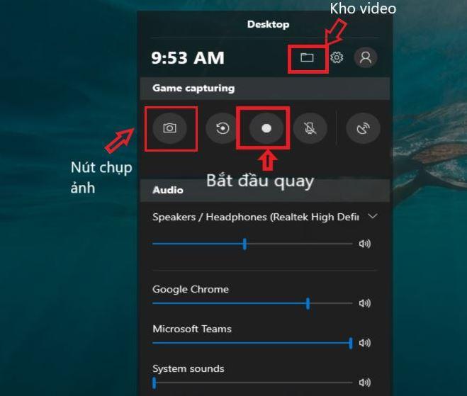 Cách quay màn hình máy tính Win 10 bằng Game bar