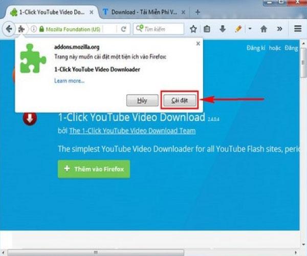 Tải video với trình duyệt của Firefox