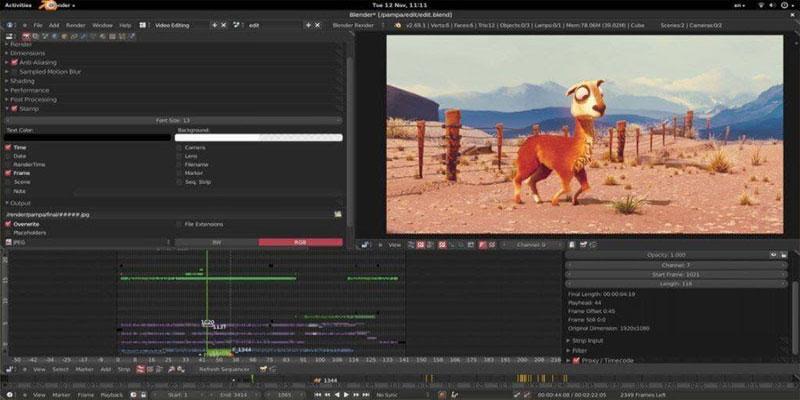 Phần mềm chỉnh sửa, biên tập video Blender