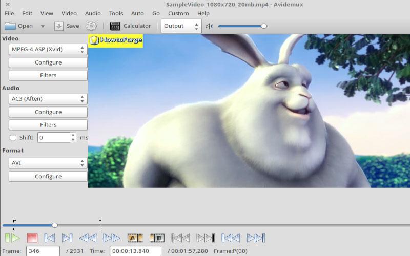 Phần mềm chỉnh sửa, biên tập video Avidemux