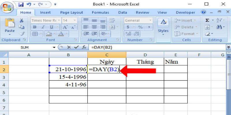 Những hàm ngày tháng có trong Excel
