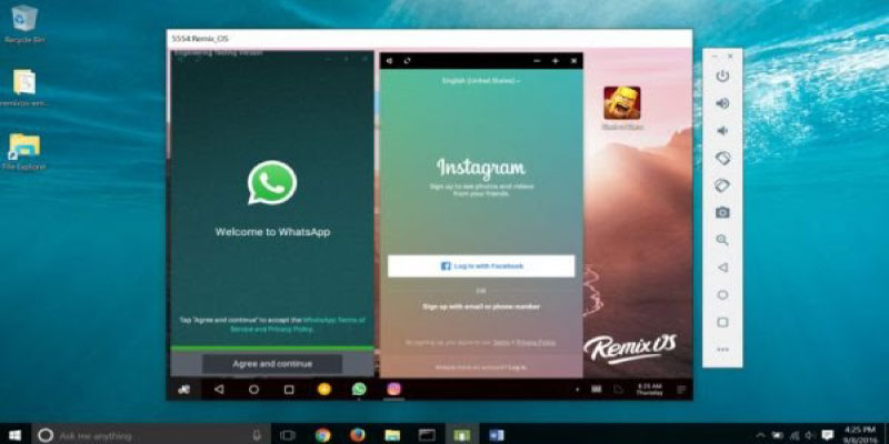 Ứng dụng giả lập Android Remix OS Player