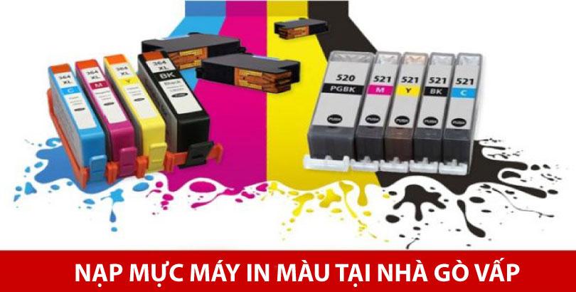 Nạp mực máy in màu tại nhà quận Gò Vấp, dịch vụ uy tín, chuyên nghiệp hàng đầu TP.HCM