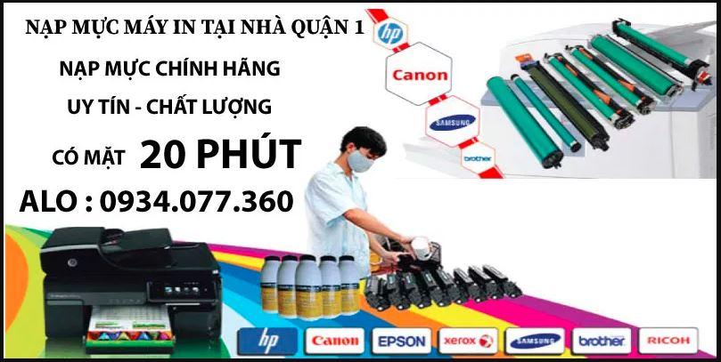 Nạp mực máy in tại nhà quận 1, nạp mực máy in màu, uy tín, chuyên nghiệp, giá rẻ, có mặt trong 20 phút