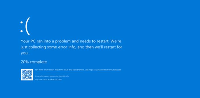 Lỗi màn hình xanh cần cài lại Windows