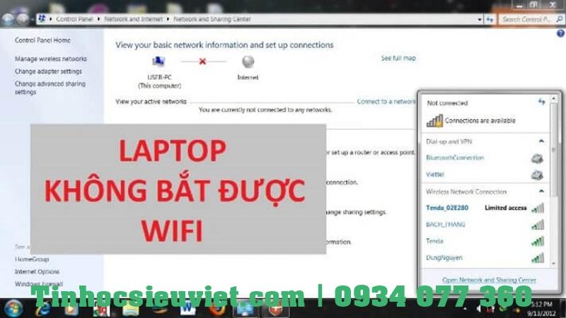 Có nhiều nguyên nhân gây ra tình trạng máy tính không bắt được với wifi
