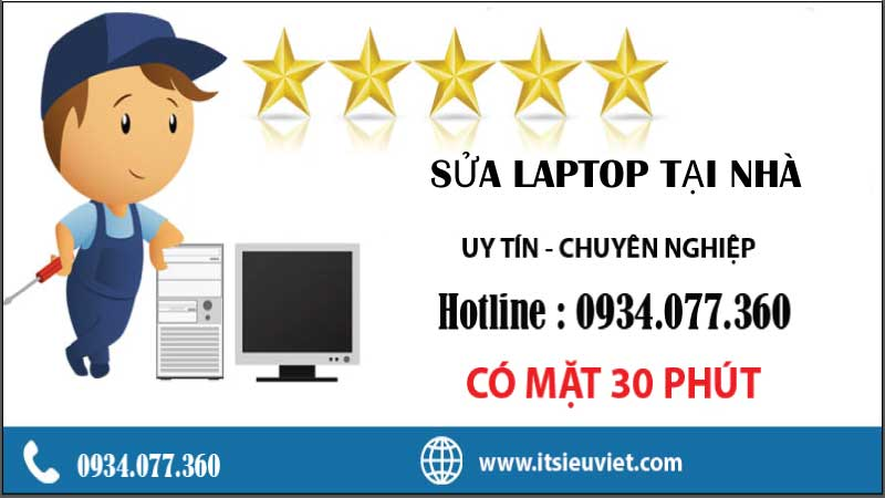 sửa laptop tại quận Tân Phú