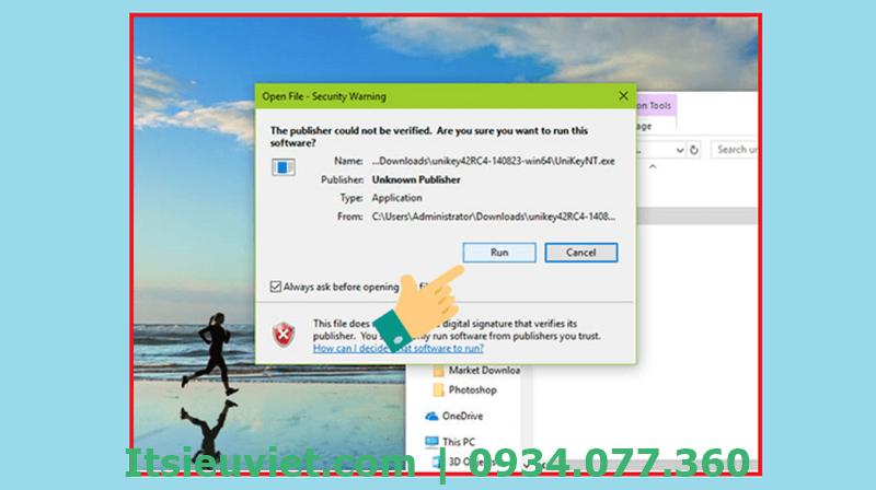Cài đặt phần mềm Unikey để máy gõ được tiếng Việt
