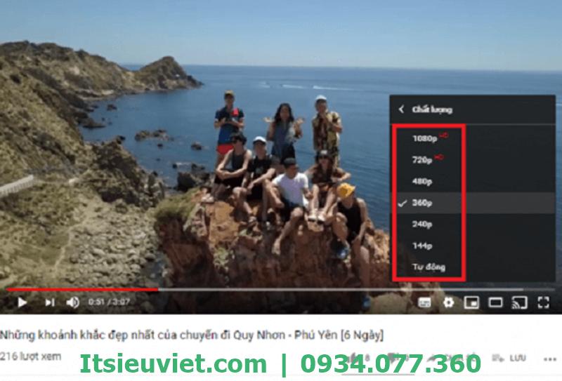 Thay đổi chất lượng video cũng là một lựa chọn tối ưu