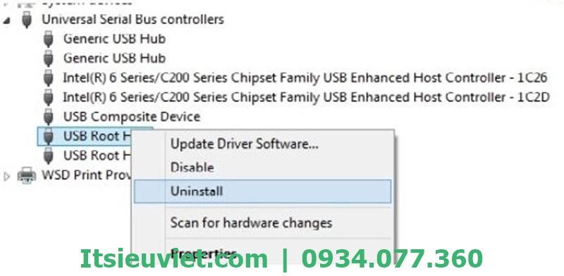 Lỗi máy tính không nhận USB 3G