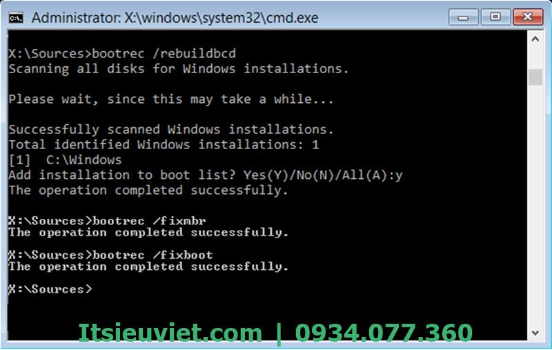 Cấu hình và khôi phục lại Boot Configuration Data