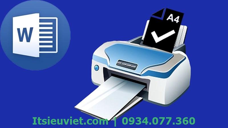 Lỗi máy in bị kẹt giấy: Máy in sẽ báo lỗi khi lựa chọn khổ giấy không đúng