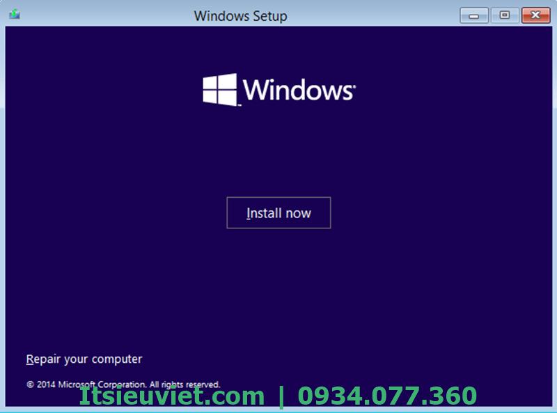 Cài lại hệ điều hành Windows mới