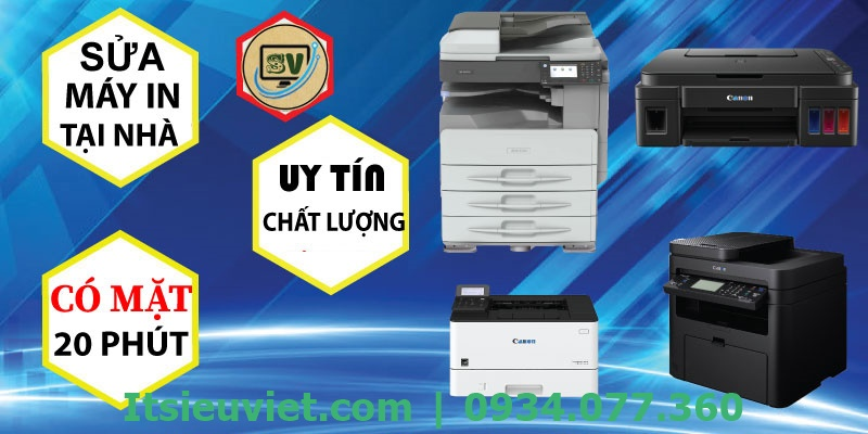 IT Siêu Việt là trung tâm chuyên đảm nhận sửa chữa máy in tại TP HCM