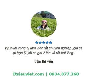 Chị Yến hài lòng về dịch vụ của IT Siêu Việt