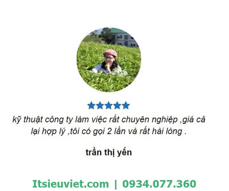 Chị Yến hài lòng về dịch vụ sửa máy lạnh tại nhà Gò Vấp của IT Siêu Việt